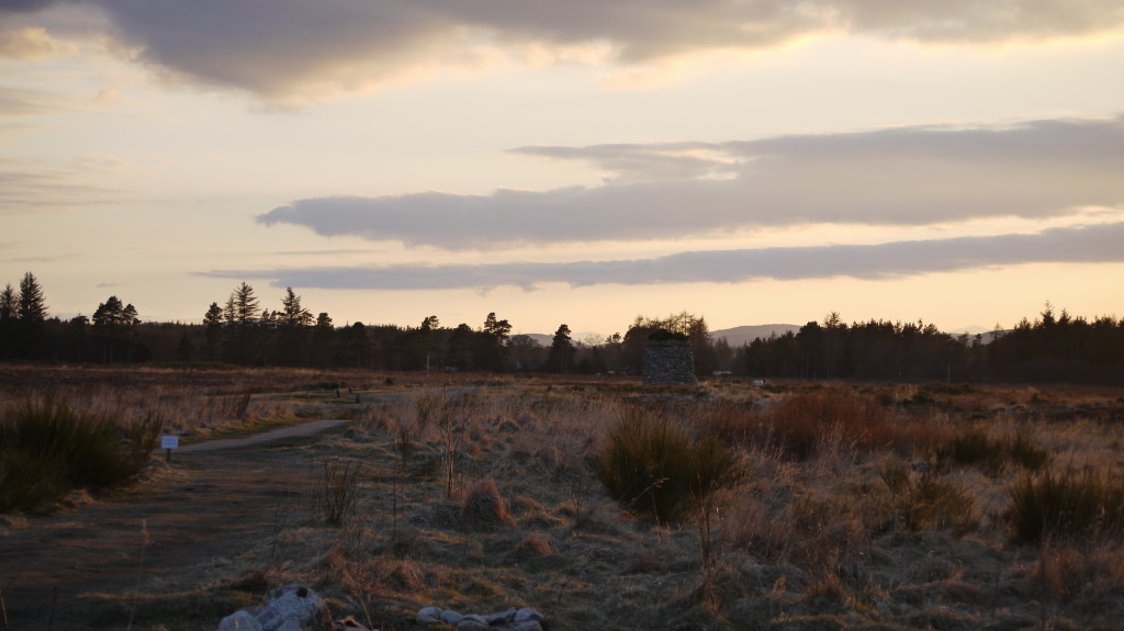 January 2014 on Culloden battlefield